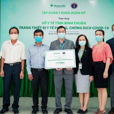 Tập đoàn Y khoa Hoàn Mỹ tài trợ trang thiết bị y tế cho Sở Y tế Bình Thuận
